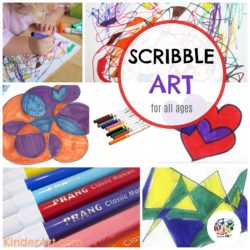Scribble Art. This lesson requires planning and problem solving, much like a math problem or science experiment. KinderArt.com