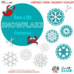 Sea Life Snowflake Patterns