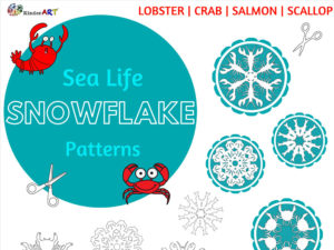 Sea Life Snowflake Patterns