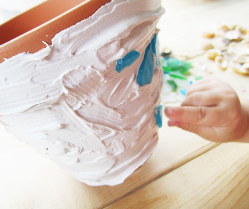 Mosaic Flowerpots Craft For Kids From KinderArt.com