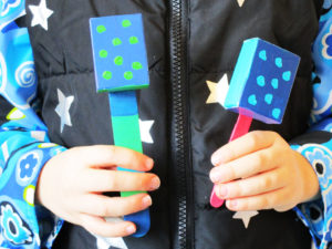 Little noisemaker shakers. KinderArt.com