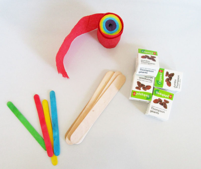 Supplies to make noisemakers. KinderArt.com