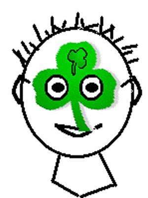 Shamrock Mask Craft for Kids. KinderArt.com