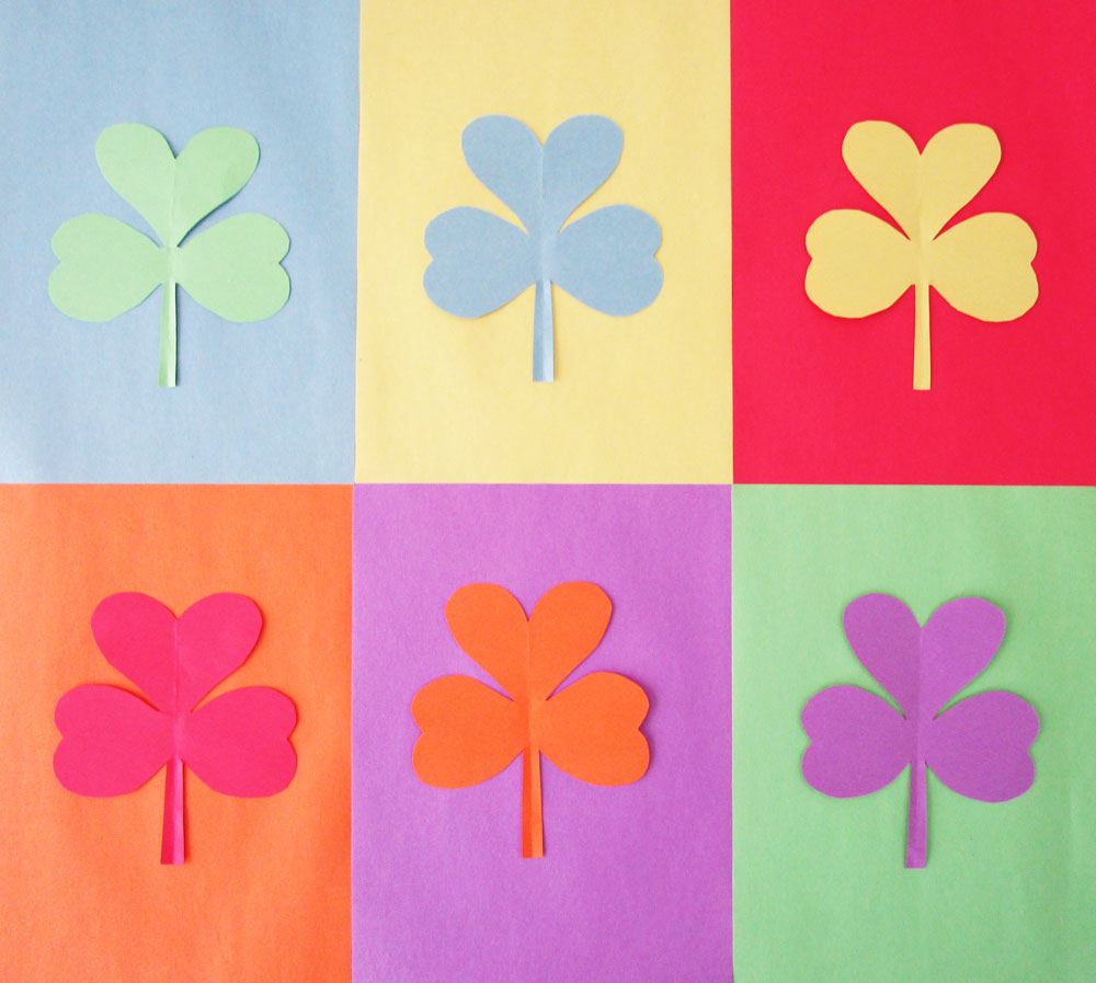 Andy Warhol Pop Art Shamrocks