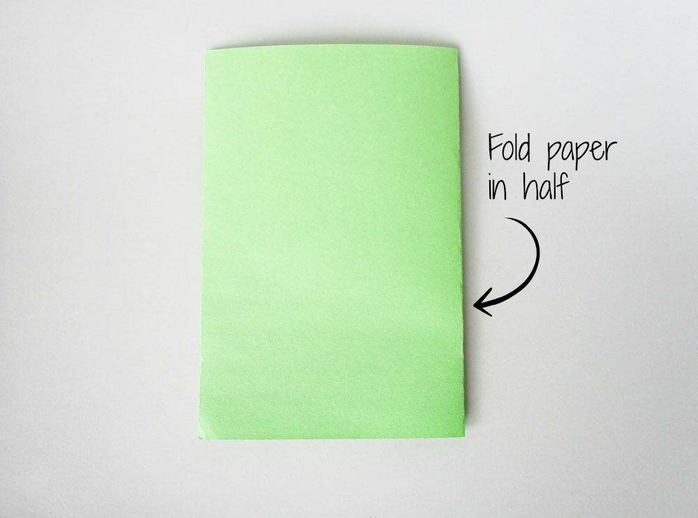 Fold the paper in half. Once.