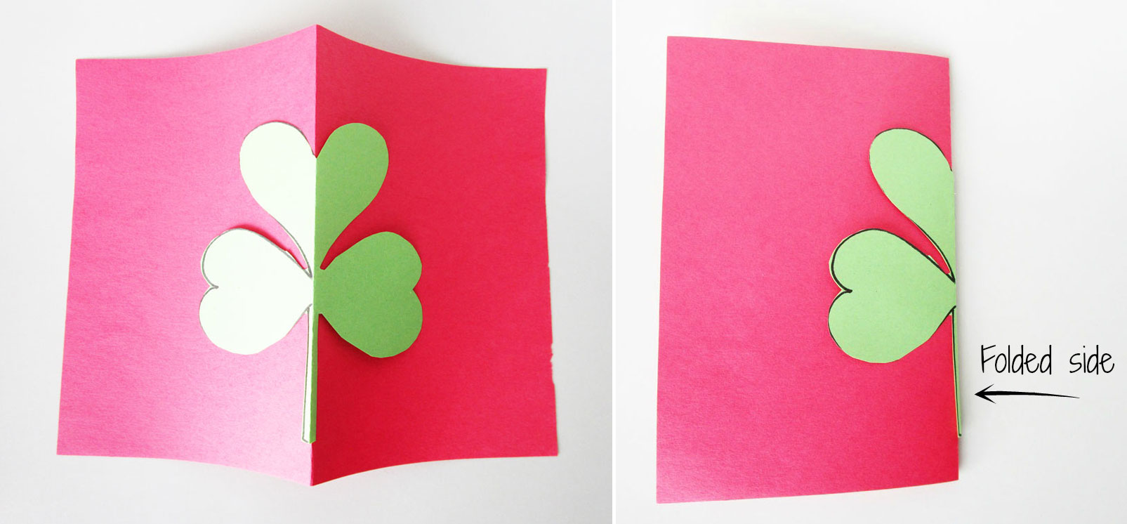Now use that shamrock as a template and trace around it on different sheets of paper.