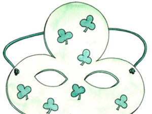 Shamrock Mask Craft for Kids. KinderArt.com