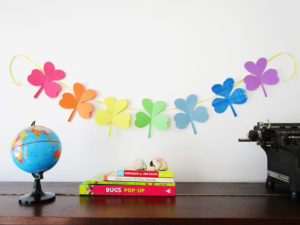 Shamrock Garland Craft from KinderArt.com