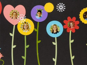Smiling Flowers Bulletin Board idea