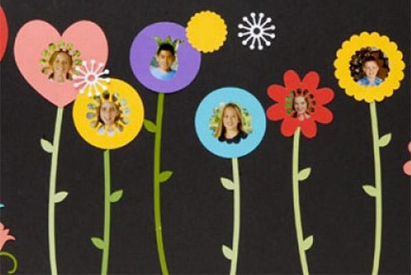 Smiling Flowers Bulletin Board idea