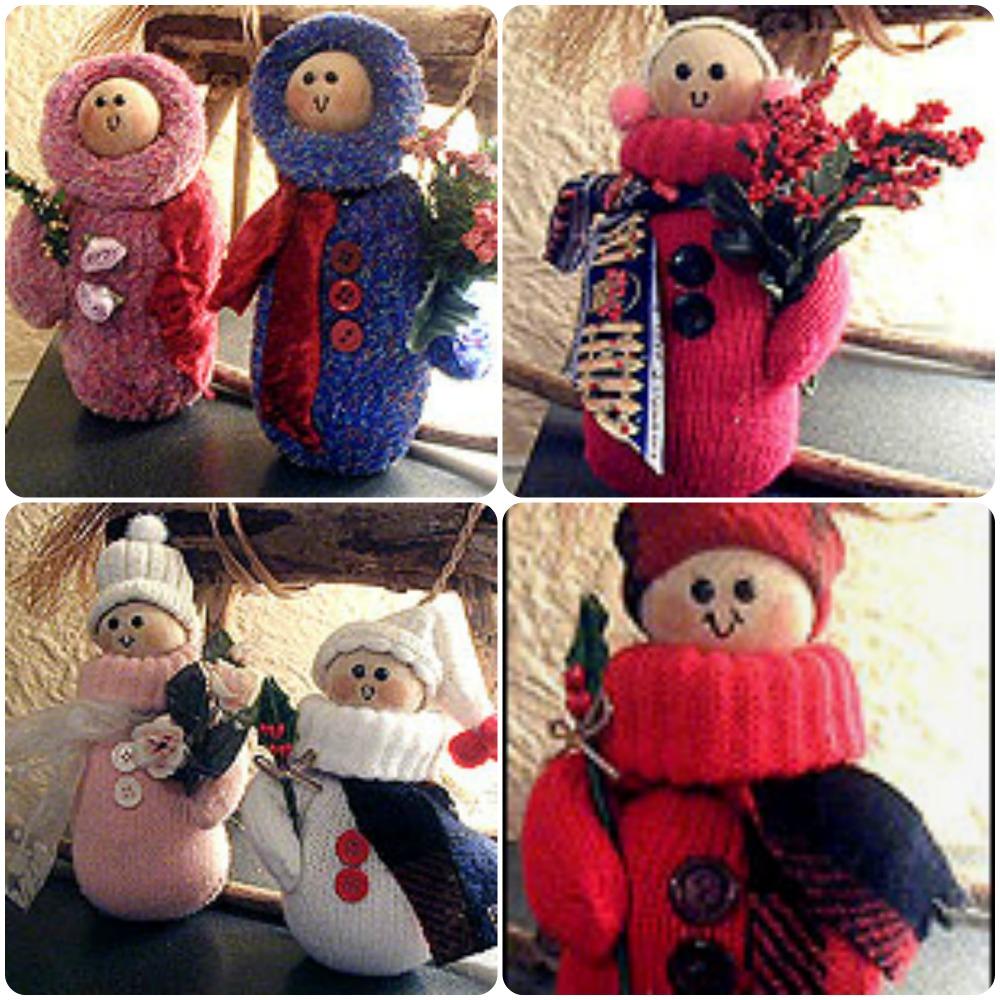 Snow Folks Crafts. KinderArt.com