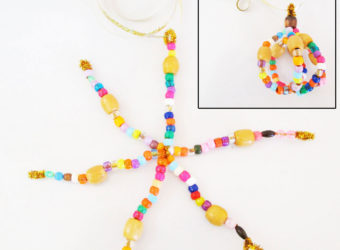 Make a Snowflake and Bauble out of Pipecleaners and Beads. KinderArt.com