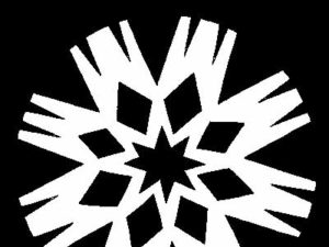 Flying M Snowflake Pattern