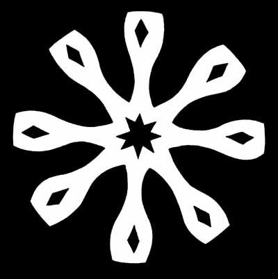 Stars and Diamonds Snowflake Pattern
