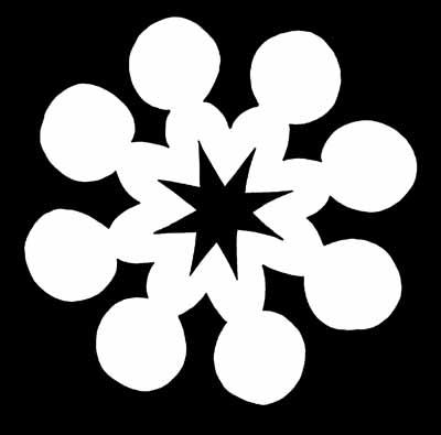 Happy Dots Snowflake Pattern