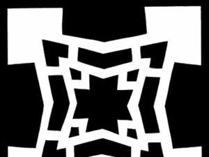 Geometric Snowflake Pattern