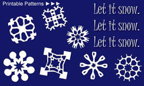 Printable Paper Snowflake Patterns