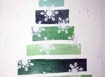 Paper Snowflake Tree craft from KinderArt.com