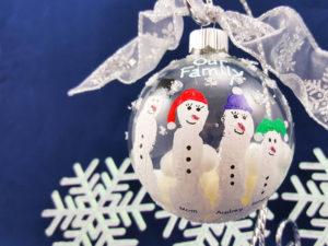 Fingerprint Snowman Ornament