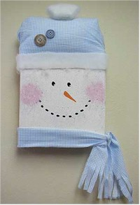 Snowman Wallhanging Craft. KinderArt.com