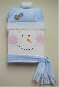 Snowman Wallhanging Craft. KinderArt.com