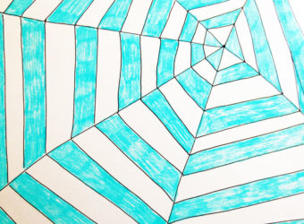 How to make a spider web pattern