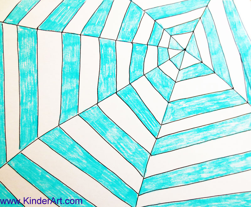 How to make a spider web pattern drawing