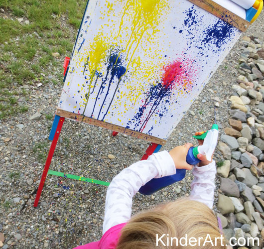 Spray bottle mural. KinderArt.com