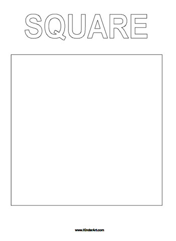 graphic regarding Square Printable identified as Sq. Coloring Website page KinderArt
