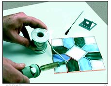A beginner's guide to stained glass. From Delphi Glass for KinderArt.com.