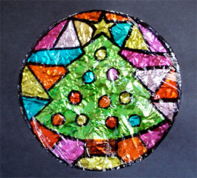 Faux stained glass craft