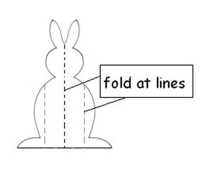 How to make a stand up bunny.