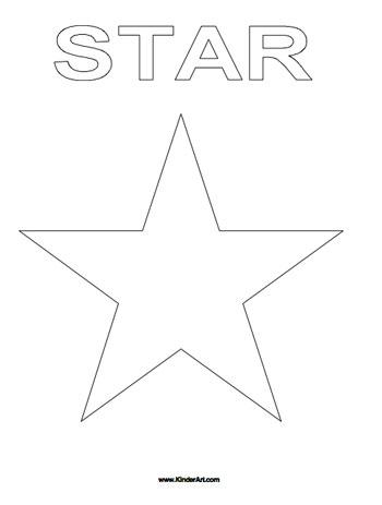 Star Coloring Page - KinderArt