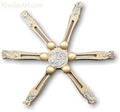 Wooden starflake craft. KinderArt.com