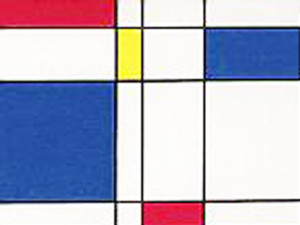 Step by step Mondrian lesson plan