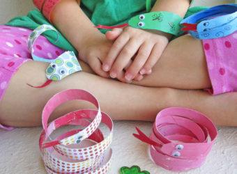 St. Patrick's Day Snakes. KinderArt.com