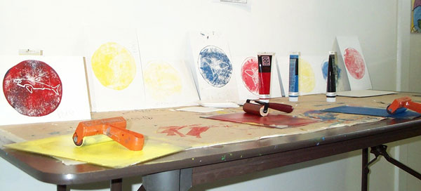 Printing with a brayer