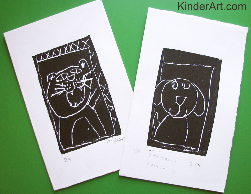 Styrofoam Relief Printing for Elementary School Kids