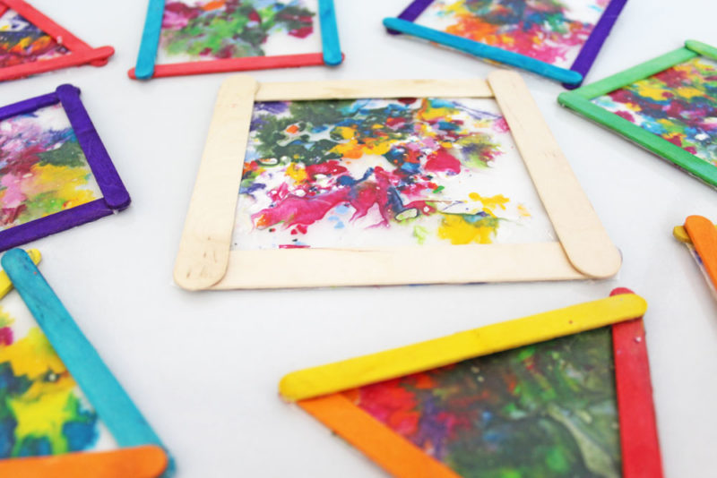 Melted Crayon Suncatchers Craft Project Kids Of All Ages