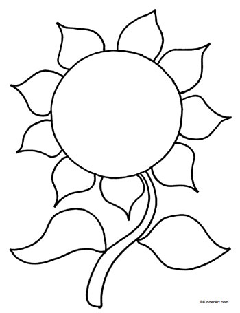 Sunflower Coloring Page KinderArt