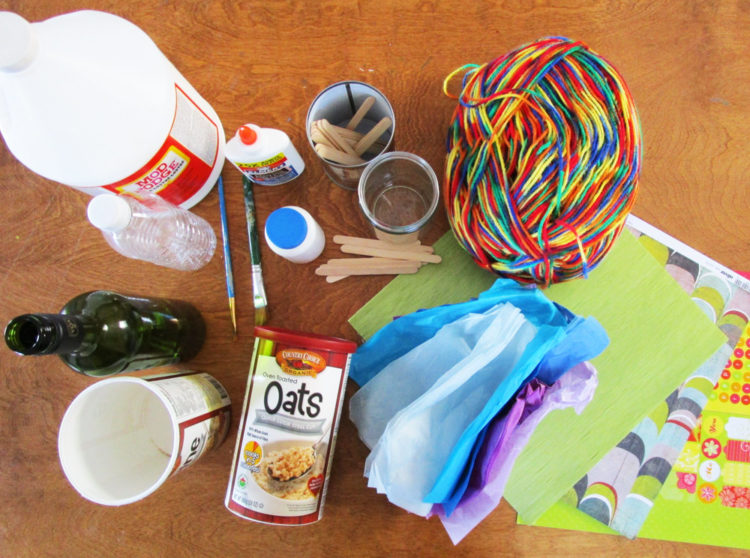 Supplies for making crafts.