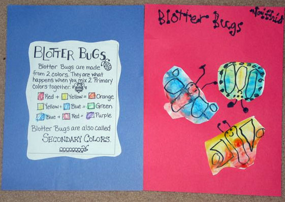blotter bugs - Primary Colors Book
