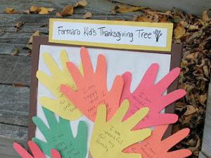 Thanksgiving Handprint Tree Craft. KinderArt.com
