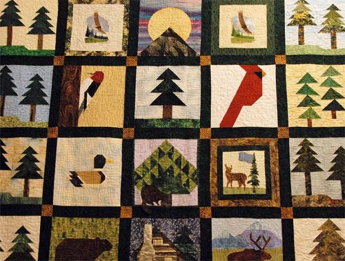 Thanksgiving Quilt Craft. KinderArt.com