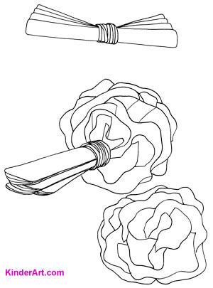 Make carnations out of tissue paper. KinderArt.com