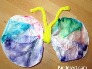 Coffee Filter Butterflies with Tissue Paper