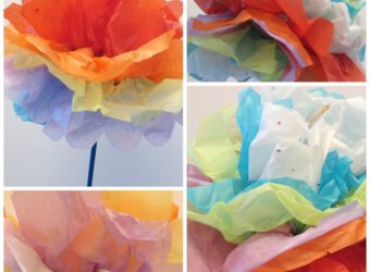 Make carnations out of tissue paper. KinderArt.com