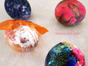 Tissue Paper Eggs Craft for Kids. KinderArt.com