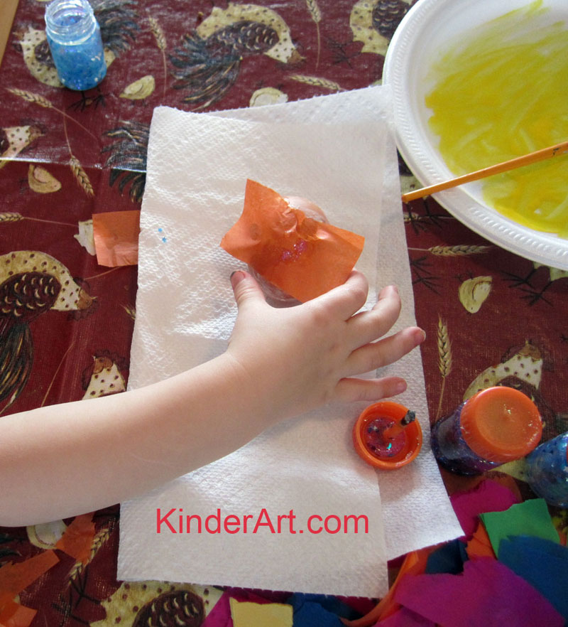 Tissue Paper Eggs Craft for Kids. KinderArt.com