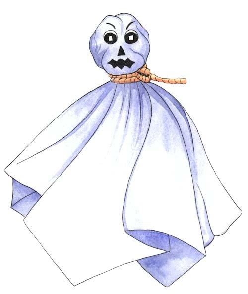 Tissue Paper Ghost Craft. KinderArt.com